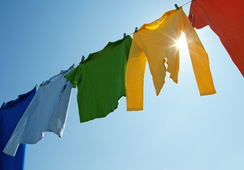 colorful clothes drying